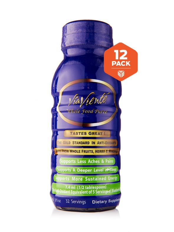 ViaViente Whole Food Puree 12-Pack (12-8oz Bottles)